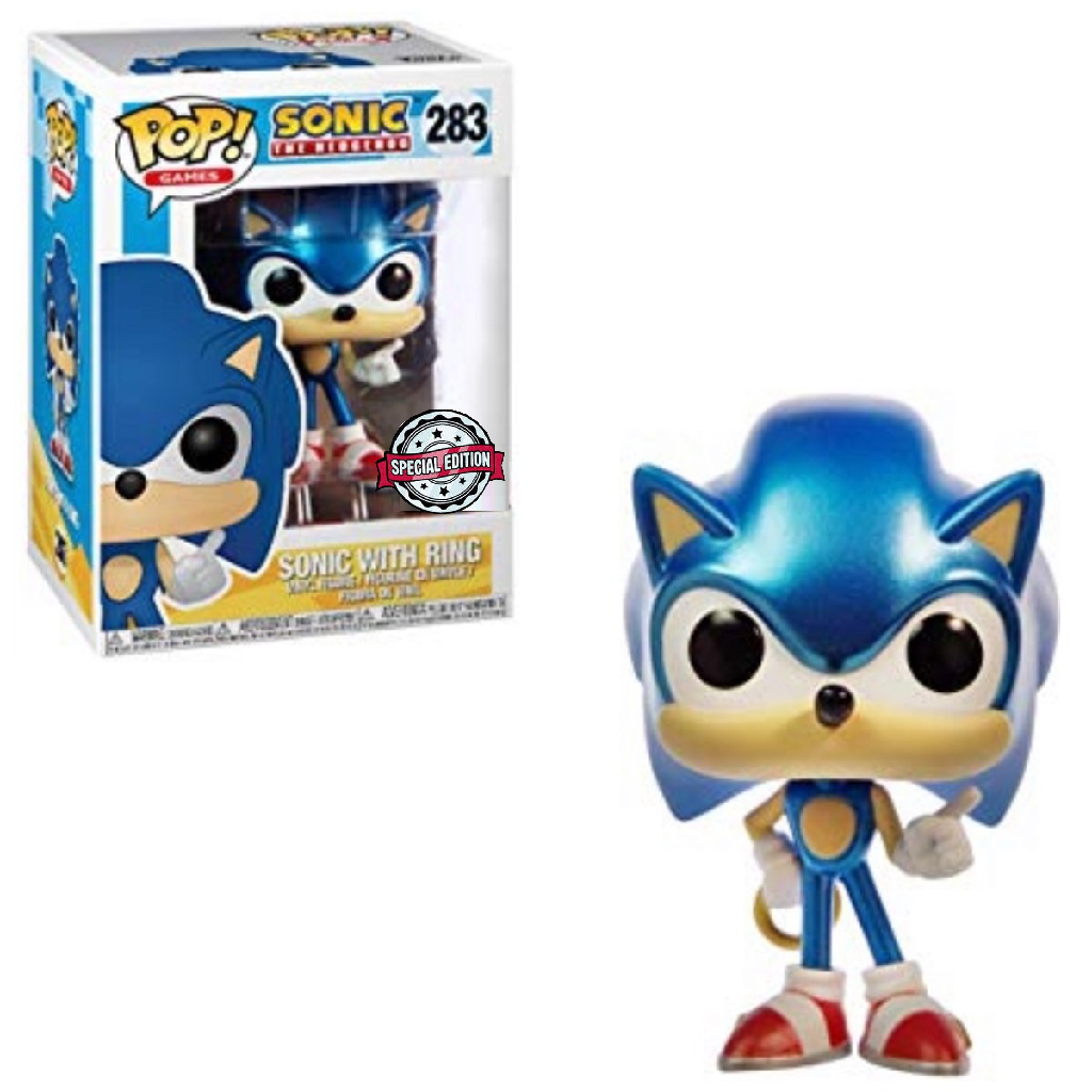 Funko Pop Sonic The Hedgehog Sonic With Ring 283 Metallic Exclusive Wanted